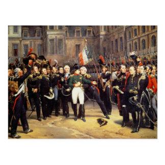 Carte Postale Les Adieux De Fontainebleau, le 20 avril 1814