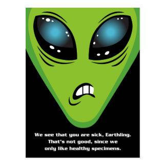 Carte Postale Les aliens fâchés obtiennent bien