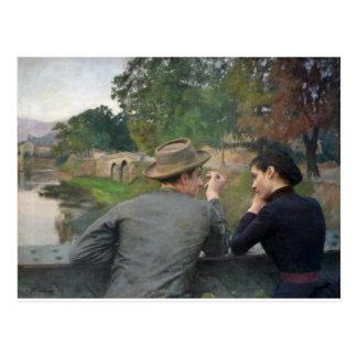 Carte Postale Les amants, 1888