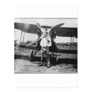 Carte Postale les années 1920 équipent avec l'avion