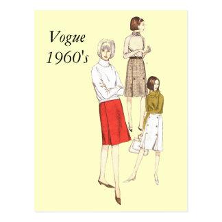 Carte Postale Les années 1960 de mode, Vogue1960
