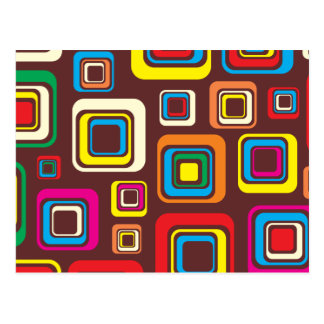 Carte Postale Les années 70 carrés super de motif de tuile sur