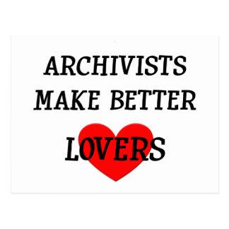 Carte Postale Les archivistes font de meilleurs amants