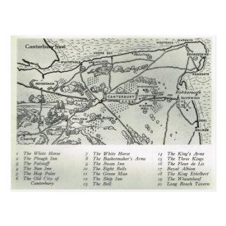Carte Postale Les auberges de Kent, auberges s'approchent de la