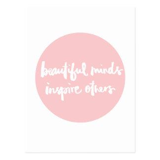 Carte Postale Les beaux esprits inspirent la citation inspirée