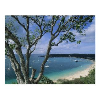 Carte Postale Les Caraïbe, île d'Anguilla, port de baie de route