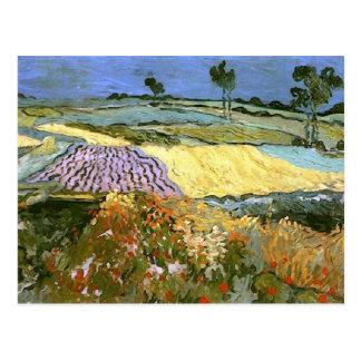 Carte Postale Les champs de blé s'approchent des beaux-arts