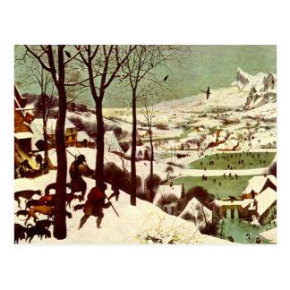 Carte Postale Les chasseurs dans la neige - 1565