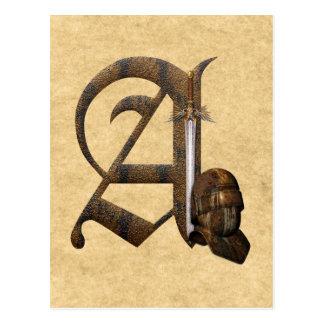 Carte Postale Les chevaliers rouillés parafent A