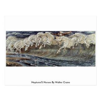 Carte Postale Les chevaux de Neptune par la grue de Walter