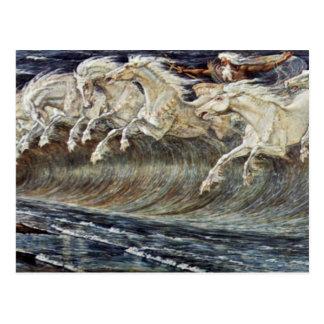 Carte Postale Les chevaux de Neptune par la grue Walter