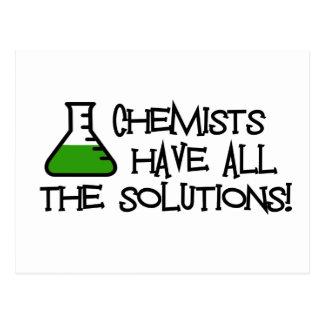 Carte Postale Les chimistes ont toutes les solutions