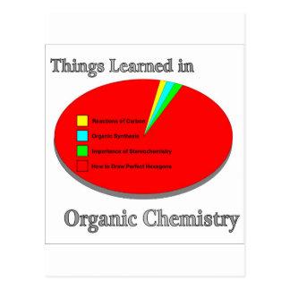 Carte Postale Les choses I appris en chimie organique