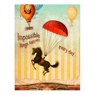 Carte Postale Les choses impossibles se produisent chaque jour
