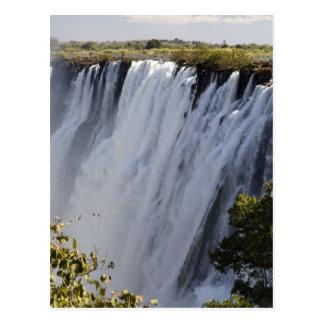 Carte Postale Les chutes Victoria, rivière de Zambesi, Zambie
