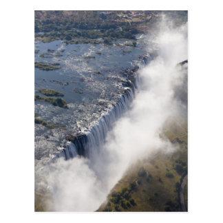 Carte Postale Les chutes Victoria, rivière de Zambesi, Zambie -