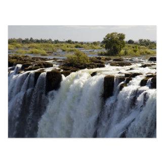Carte Postale Les chutes Victoria, rivière de Zambesi, Zambie. 2