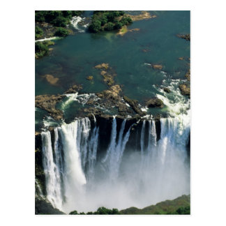 Carte Postale Les chutes Victoria, Zambie à la frontière du