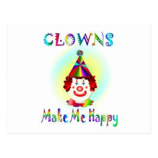 Carte Postale Les clowns me rendent heureux