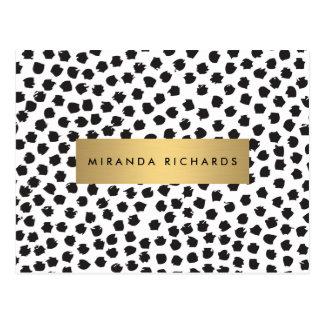 Carte Postale Les confettis noirs Luxe pointillent II avec la