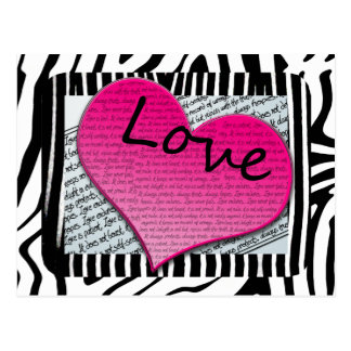 Carte Postale Les Corinthiens de l'amour 1 13 coeurs dentellent