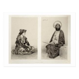Carte Postale Les costumes de Bakou, côte caspienne, plaquent 35