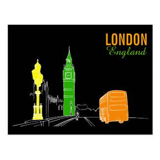 Carte Postale Les couleurs au néon de Londres refroidissent