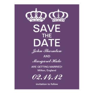 Carte Postale Les couples royaux d'améthyste font gagner la date