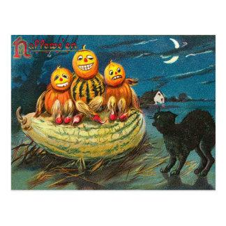 Carte Postale Les courges vintages de Halloween, sanctifie la