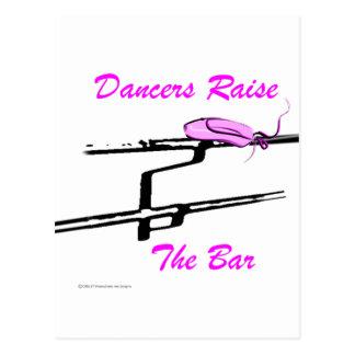 Carte Postale Les danseurs soulèvent la barre (pour les produits