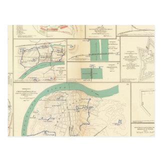 Carte Postale Les défenses Chattanooga