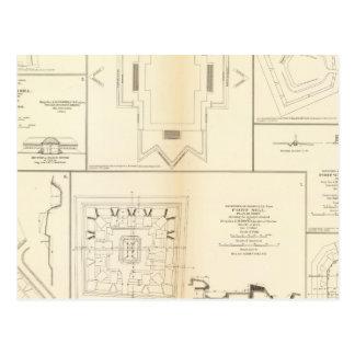 Carte Postale Les défenses Chattanooga, Nashville