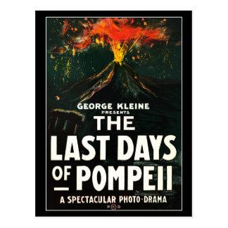 """Carte Postale """"Les derniers jours affiche de cinéma de Pompeii"""""""