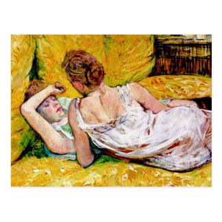 Carte Postale Les deux amis par Henri De Toulouse-Lautrec