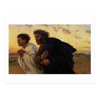 Carte Postale Les disciples Peter et fonctionnement de John