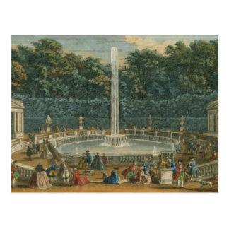 Carte Postale Les dômes dans le jardin à Versailles, pub. par