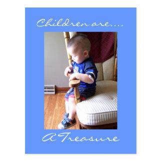 Carte Postale Les enfants sont…., un trésor