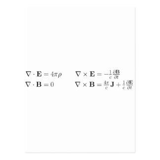 Carte Postale Les équations de Maxwell, forme différentielle,