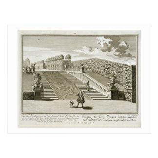 Carte Postale Les étapes à la terrasse de jardin, palais de