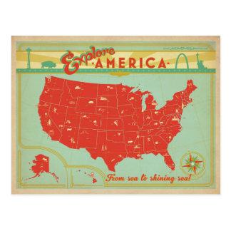 Carte Postale Les Etats-Unis | de la mer vers la mer brillante