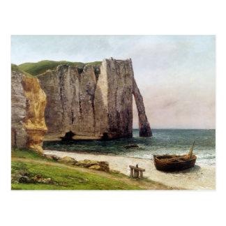 Carte Postale Les falaises chez Etretat, 1869