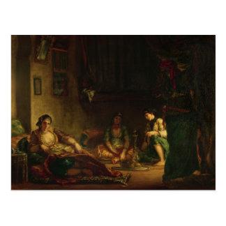 Carte Postale Les femmes d'Alger dans leur harem, 1847-49