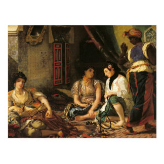 Carte Postale Les femmes d'Alger en leur appartement, 1834