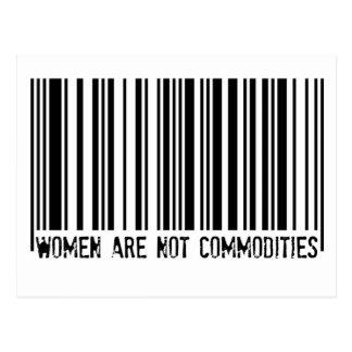 Carte Postale Les femmes ne sont pas des marchandises