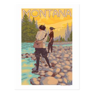 Carte Postale Les femmes pilotent la pêche - Montana