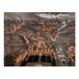 Carte Postale Les feux à Paris, 24ème 25 mai 1871