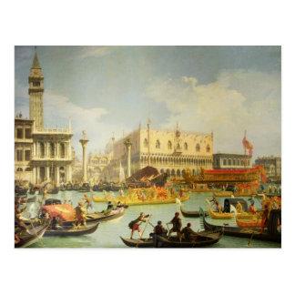 Carte Postale Les fiançailles du doge vénitien vers l'Adriatique