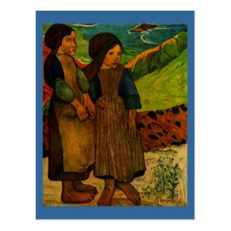 Carte Postale Les filles bretonnes de Paul Gauguin (1889)