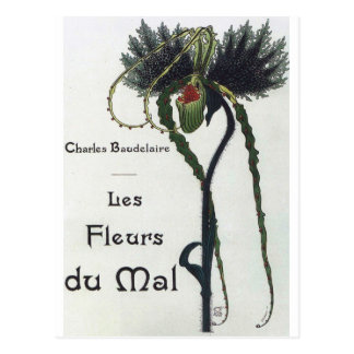 Carte Postale Les Fleur du Mal - Baudelaire