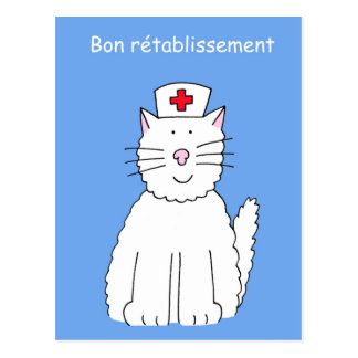 Carte Postale Les Français obtiennent bientôt le chat bon, la
